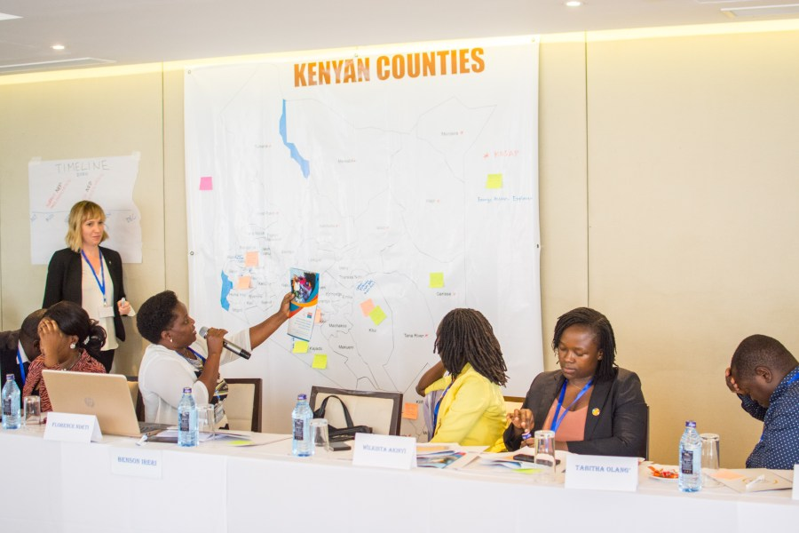 Participants of the Energy Act 2019 meeting mapping Kenyan CSO initiatives at the county level