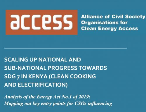 SCALING UP NATIONAL AND SUB-NATIONAL PROGRESS TOWARDS SDG 7 IN KENYA (CLEAN COOKING AND ELECTRIFICATION)