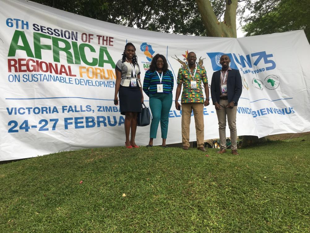 ACCESS members during the ARFSD 2020 forum in Victoria Falls Zimbabwe