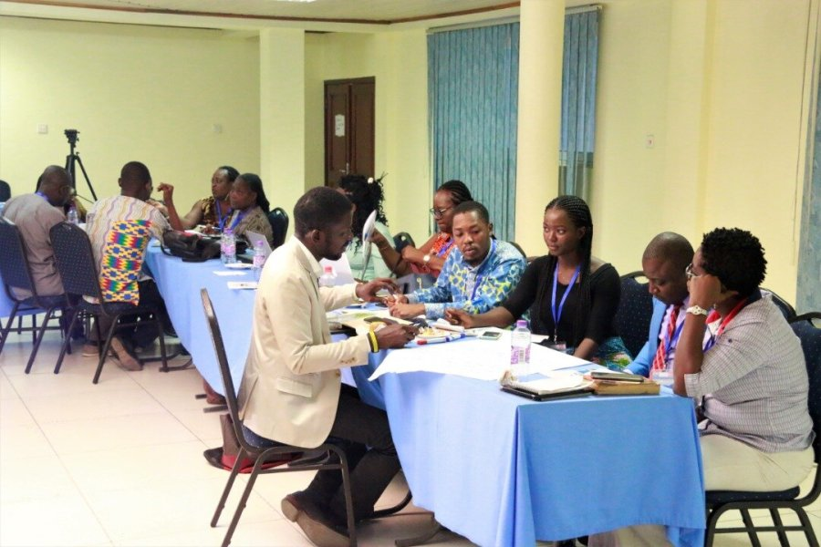 Participants during the breakout sessions