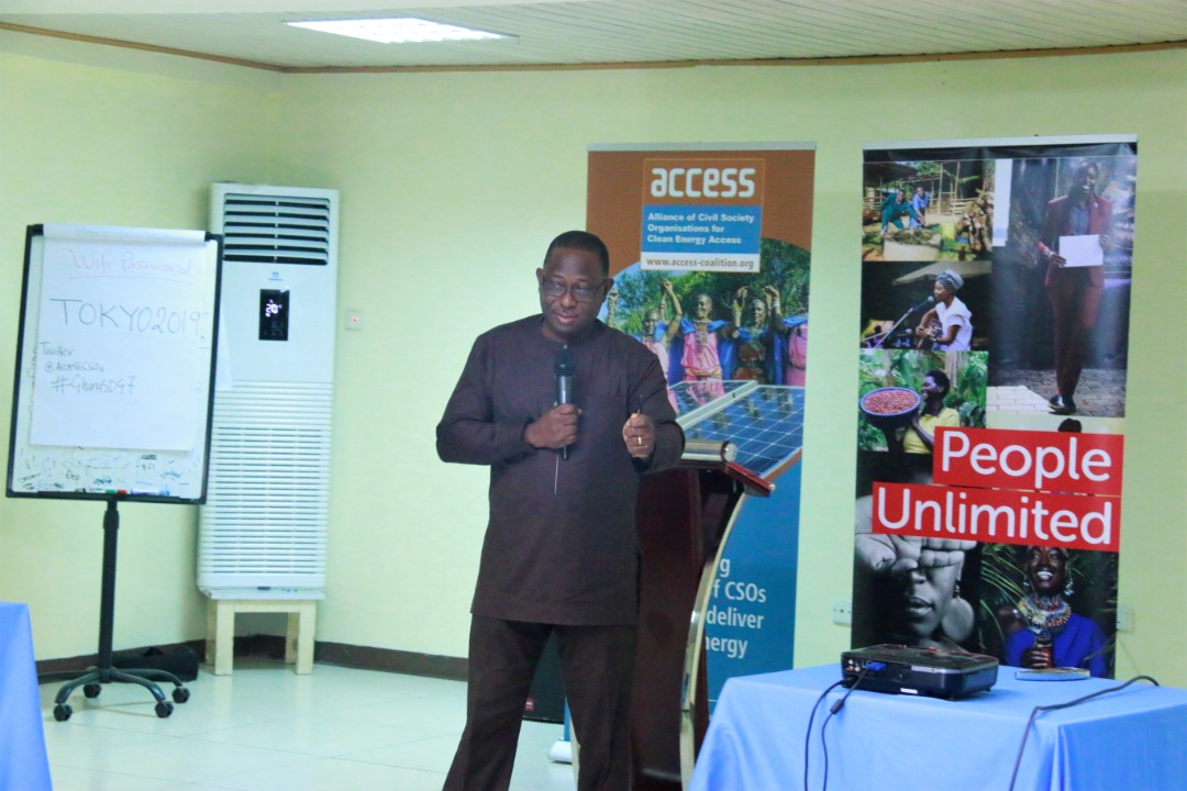 Director Renewable Energy in Ghana during the West Africa Regional Workshop on Energy Access