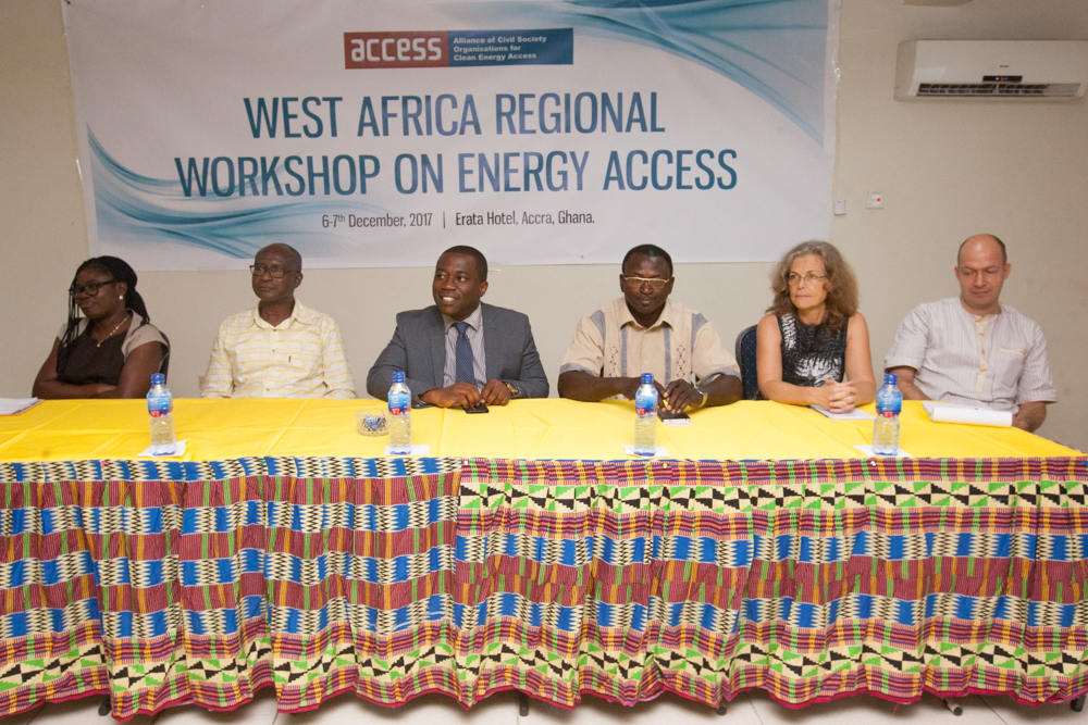 Panelists during the West Africa Regional Workshop on Energy Access in Accra, Ghana