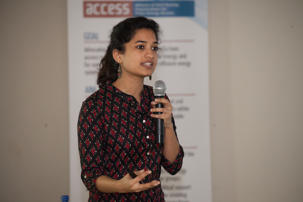 Former ACCESS Coordinator, Surabhi Rajagopal, leads the West Africa Regional Workshop on Energy Access in Accra, Ghana