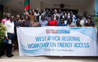 Group Photo - during the West Africa Regional Workshop on Energy Access in Accra, Ghana