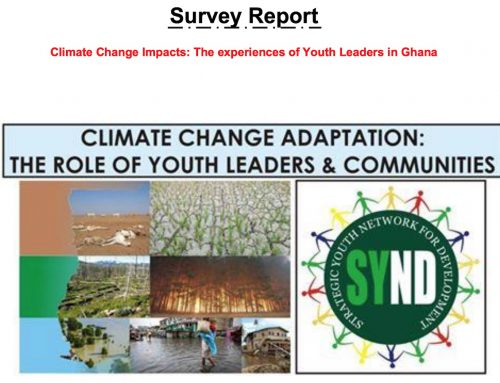 Climate Change Impacts: The experiences of Youth Leaders in Ghana